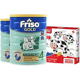 Bộ 2 lon sữa Bột Friso Gold 4 Cho Trẻ Từ 2-4 Tuổi 1.5kg + Tặng set chơi Golf con bò