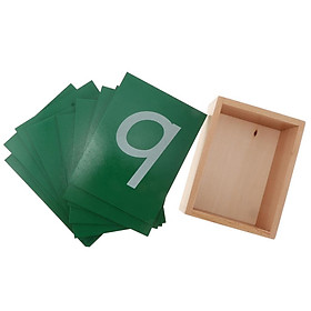Montessori Toy 0-9 Sandpaper Number in Box for Kids Eaducational Development