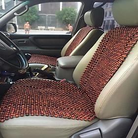 Đệm hạt gỗ tựa lưng massage lót ghế ô tô, xe hơi làm từ 100% gỗ Hương Đỏ tự nhiên cao cấp (HD-D)