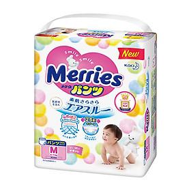 MUA 6 Tã/bỉm quần Merries size M - 58 miếng (Cho bé 6 - 11kg) - Tặng 1 gói cùng loại-1