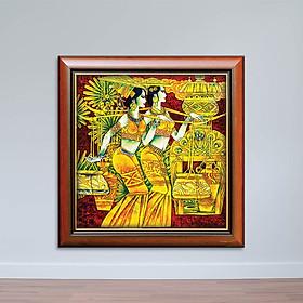 Tranh Bán Khỏa Thân Cô Gái Dân Tộc - Tranh Nghệ Thuật Độc Đáo Canvas W1158