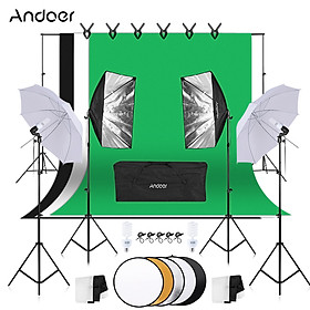 Bộ Đèn Và Phông Nền Background Chụp Ảnh Andoer-2