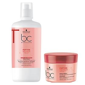 Dầu hấp ủ Schwarzkopf BC Bonacure Peptide Rescure Repair phục hồi tóc hư tổn theo cấp độ chính hãng Đức