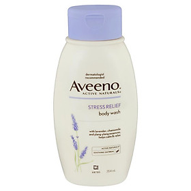 Aveeno Active Naturals Stress Relief Body Wash Lavender, Chamomile and Ylang-Ylang Essences 354mL