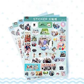 Set 4 tệp sticker BTS hình dán mẫu mới