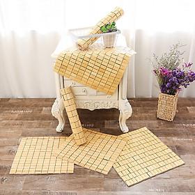 Chiếu trúc lót ghế văn phòng kích thước 40 x 40cm ghê xoay hòa phát ghế chơi game ngồi cho mát