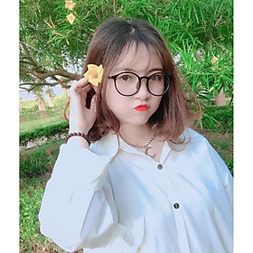 Kính Tata Tròn Ngố Giả Cận Cute - Phong Cách Hàn Quốc Dễ Thương