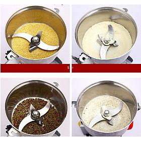 Máy xay bột gia đình xay các loại ngũ cốc như gạo, nếp, đỗ tương, đậu xanh, bột rất mịn sờ mát tay