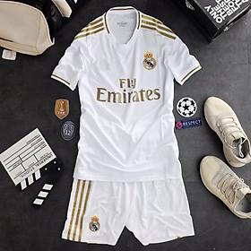 Bộ quần áo bóng đá Thái Lan cao cấp Real trắng 2019-2020