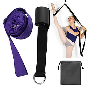 Adjustable Ballet Stretch Band Leg Stretcher with Door Achor Gymnastics Exercise Dance Training Foot Stretching Band-0