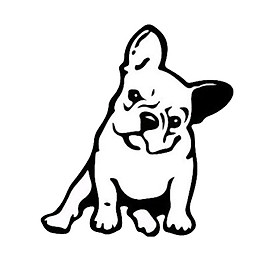 Fashion French Bulldog Dog Car Sticker Car Decoration