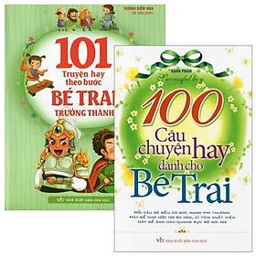 Combo 101 Truyện Hay Theo Bước Bé Trai Trưởng Thành + 100 Câu Chuyện Hay Dành Cho Bé Trai (Bộ 2 Cuốn)