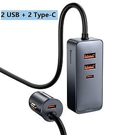 Tẩu sạc nhanh mở rộng 4 Port Baseus Share Together Extention Car Charger 120W (Extention up to 4 Port * 30W, QC/ PD/PPS Fast Charging) - Hàng Chính Hãng