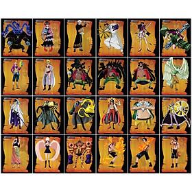 [ Độc quyền phản quang 7 màu ] Combo 30 Thẻ bài One Piece - Khổ 6.3cm x 7.7 cm
