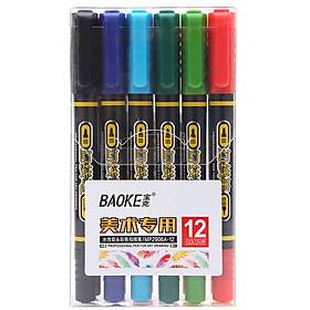 Bút Vẽ Nghệ Thuật 2 Đầu Baoke MP2906A
