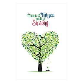 Sổ Lò Xo Notebook Minh Long - Nơi Nào Có Tình Yêu Nơi Đó Có Sự Sống (196 Trang)