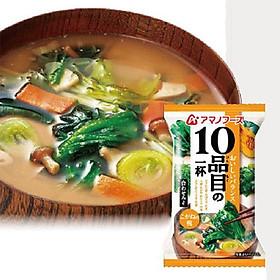 Canh miso 10 loại rau AMANO - 10 gói/ 108g