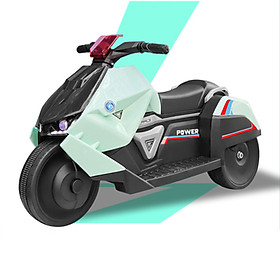 Xe máy điện trẻ em, Xe máy điện có nhạc, bluetooth điều khiển từ xa cho bé PR004 (giao màu ngẫu nhiên)