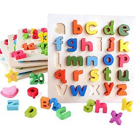 Bảng chữ cái tiếng Anh bằng gỗ - Chữ thường