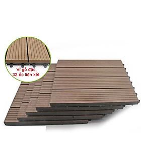 Vỉ gỗ nhựa Composite cao cấp R30cm màu Nâu- trang trí sân vườn, lót sàn nhà tắm, trang trí hồ bơi lót ban công sân vườn