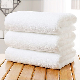 Combo 3 Khăn Tắm Khách Sạn Cotton Cao Cấp 70x140 - 500Gr Màu Trắng