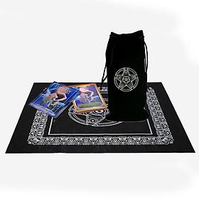 Combo Bộ bài Tarot Bói Energy Oracle Cards tarot Cao Cấp và Túi Nhung Đựng Tarot và Khăn Trải Bàn Tarot