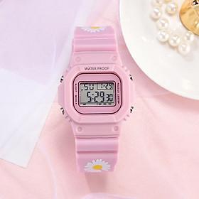 Đồng hồ điện tử nam nữ dây hoa cúc mẫu mới cực hot ZO106 với màu sắc họa tiết trên dây độc lạ với phong cách năng động cá tính