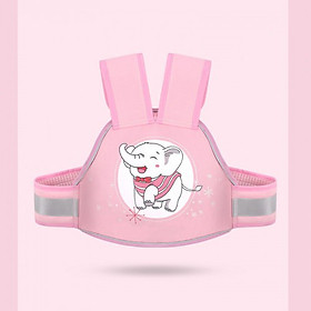 Đai nịt an toàn cho trẻ em ngồi xe máy, có dạ quang ban đêm baby  (hồng) - Hàng chính hãng