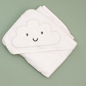 khăn chăn màu trắng hình mây cho bé