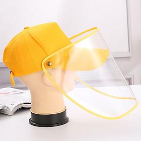 Unisex Baseball Cap Anti-Dust Anti-Wind Adjustable Removable Transparent Shield Mask Outdoor Cap