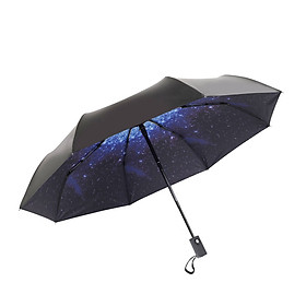 Fashion Portable Triple Folding All-weather Umbrella Anti-UV Sunproof Parasol