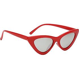 Women Vintage Triangle Mirrored Sunglasses Eyewear Designer