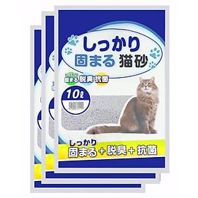 Combo 3 Túi Cát vệ sinh cho mèo Cat Litter 10L Nhật Bản Cao Cấp (Được Chọn Mùi)