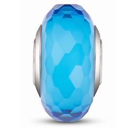 Hình đại diện sản phẩm Hạt charm DIY PNJSilver hình dẹt tròn màu xanh 13930.000-BO
