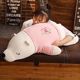 Handmade birthday gift for girlfriend plush toy doll 70cm pink  polar bear pillow creative gift practical to send wife girlfriend