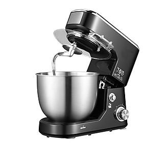 Máy nhồi, trộn, bột đánh trứng nhà bếp làm bánh tự động 5 lít, 3 đầu tiêu chuẩn tặng kèm vá múc bột, có nắp đậy tô an toàn sạch sẽ, Hàng Chính Hãng