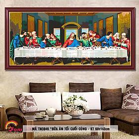 Tranh tự tô màu sơn dầu số hóa tôn giáo khổ lớn - Mã TN3049 Bữa ăn tối cuối cùng