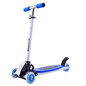 Xe scooter bánh xe có đèn phát sáng màu xanh dương