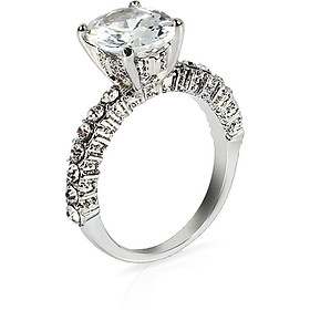 Lovers Ring Silvery Ring Romantic 2 Colors Plate with Silver Wedding Fashion Jewelry