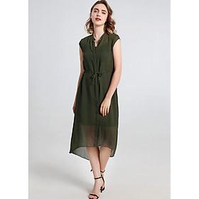 Đầm suông voan sơ mi cổ trụ kèm áo trong ArcticHunter, thời trang thương hiệu chính hãng