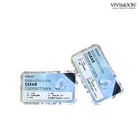 Bộ sản phẩm kính áp tròng cận trong suốt kèm phụ kiện ngâm nhỏ VIVIMOON
