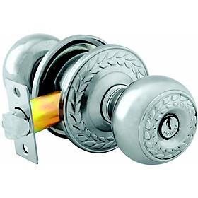 Ổ khóa cửa tay nắm tròn Việt Tiệp 04206 cò dài / cò ngắn, chất liệu inox màu trắng dành cho các loại cửa gỗ nhôm, sắt, nhựa
