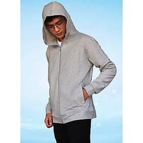 Áo khoác nam GOKING vải thun da cá 100% cotton 4 chiều, chống nắng hiệu quả