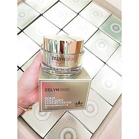 Kem dưỡng chống lão hóa, trắng da, giảm nám vàng gold collagen Zelyn tặng 3 mặt nạ Jant Blanc
