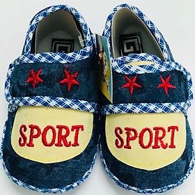 Giày Tập Đi Đế Bệt Baby Sport Bảo Thịnh - Kem (12,5cm)