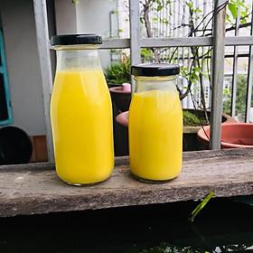 Combo 12 chai thủy tinh nắp vặn đựng nước trái cây, sữa hạt