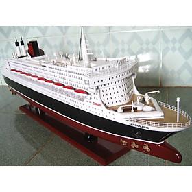 Du thuyền gỗ Queen Mary 2 dài 80cm trang trí (hàng cao cấp, không lắp ráp)