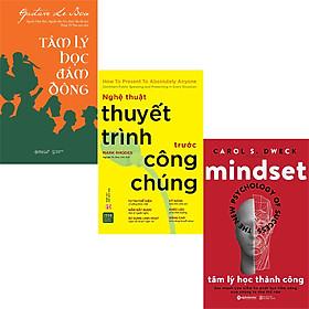 Combo 3 Cuốn Sách:  Nghệ Thuật Thuyết Trình Trước Công Chúng + Tâm Lý Học Đám Đông + Tâm Lý Học Thành Công