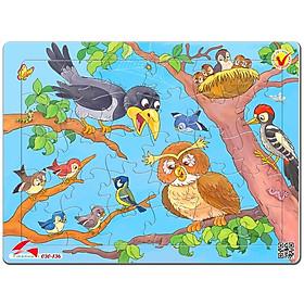 Tranh Xếp Hình A4 30 Mảnh - Bầy Chim 030-136