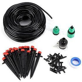 25MDIY Drip Irrigation System Automatic Watering Garden Hose Micro Drip Watering Kits with Adjustable Drippers